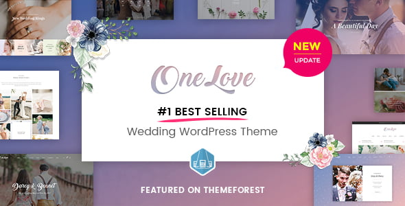 OneLove - 35+ GREAT Wedding Invitation WordPress Themes [year]