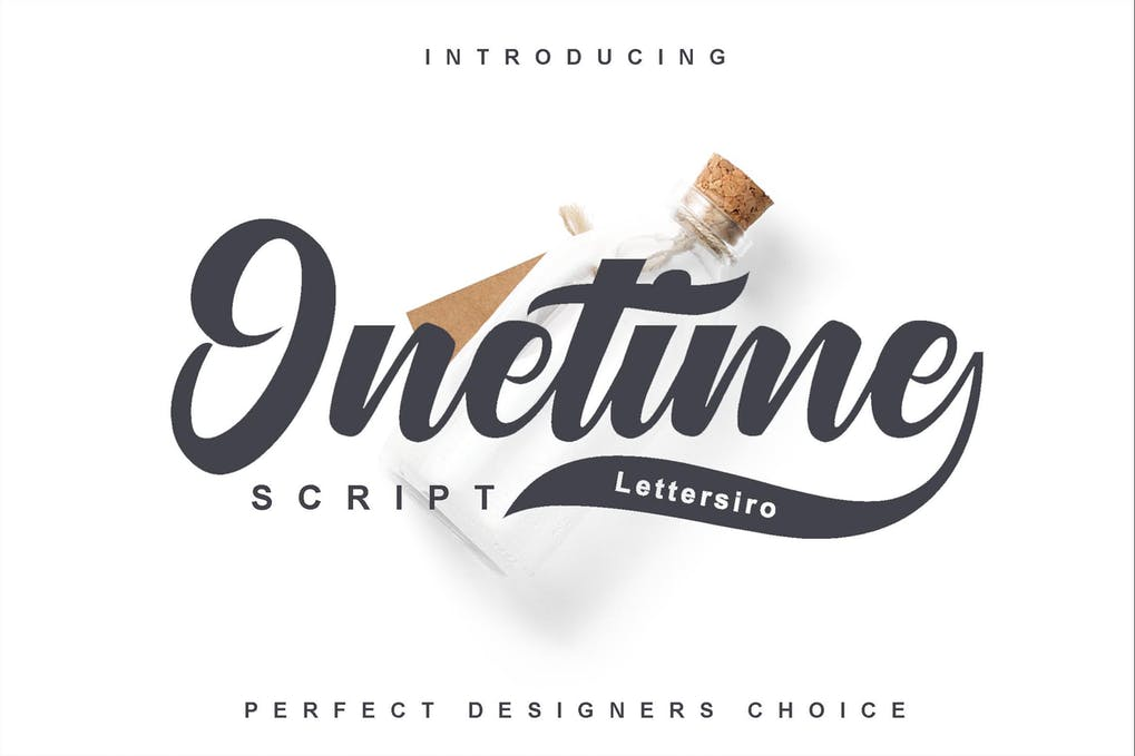 Onetime-Script - 50+ BEST Typography Logo Fonts [year]