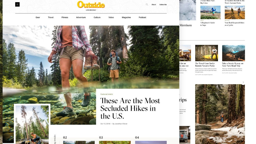 Outside-Magazine-Homepage - 63+ FREE NICE Blog Layout Designs IDEA [year]