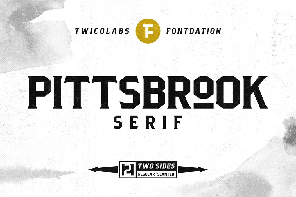 Pittsbrook-Serif - 50+ BEST Typography Logo Fonts [year]