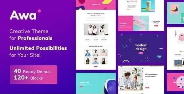 Portfolio-Awa - 35+ TOP Color Schemes WordPress Theme [year]