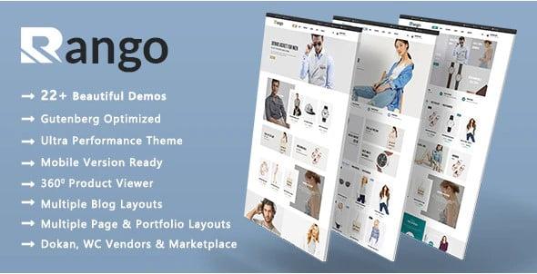 Rango - 53+ Pretty Ecommerce WordPress Themes [year]