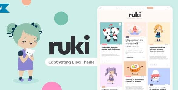 Ruki - 35+ TOP Color Schemes WordPress Theme [year]