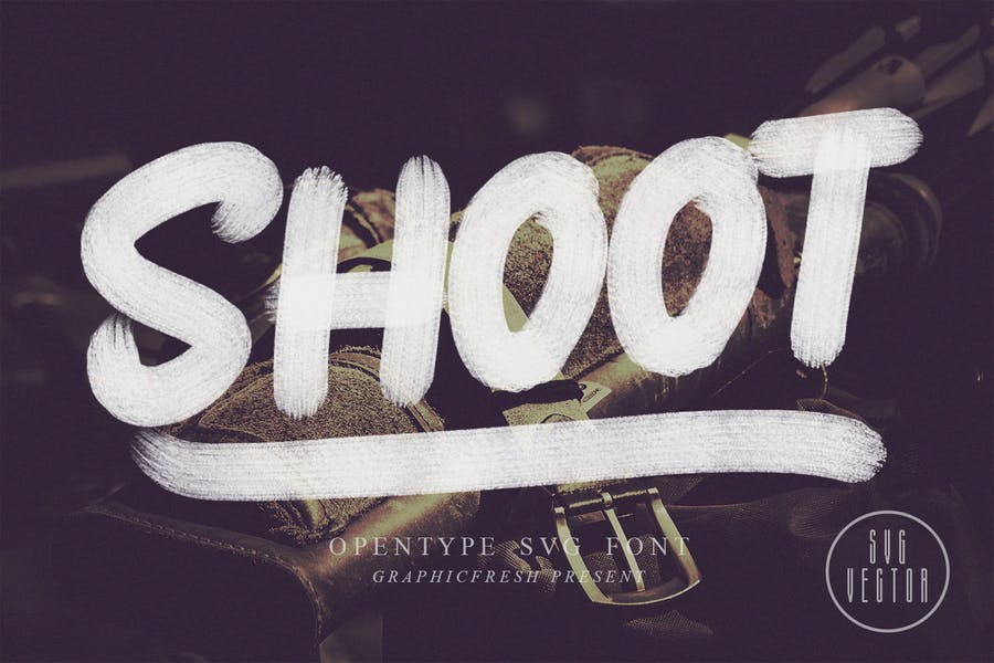 Shoot-SVG-Font - 38+ COOL Opentype SVG Fonts [year]