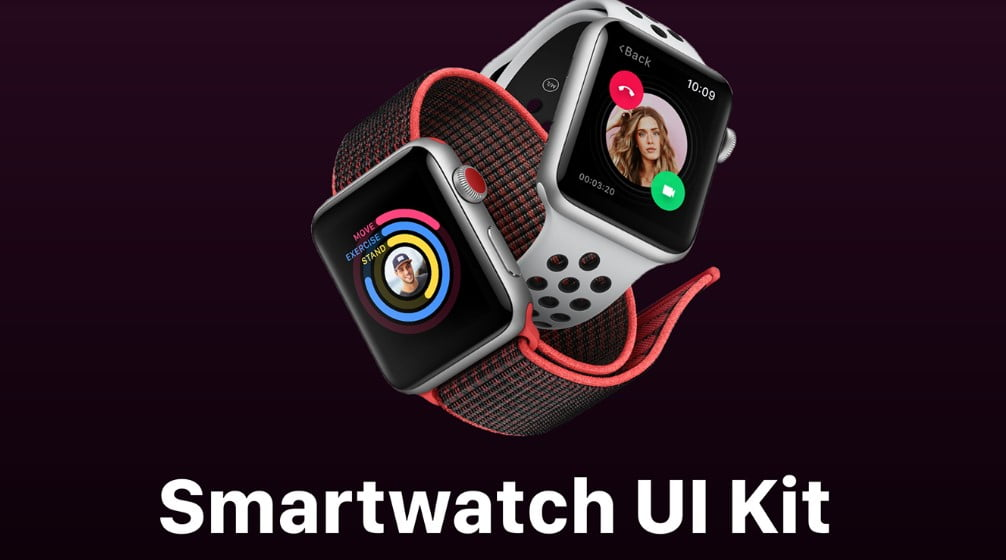 Smartwatch-UI-Kit - 53+ BEST FREE Adobe XD Web & Mobile Kits [year]