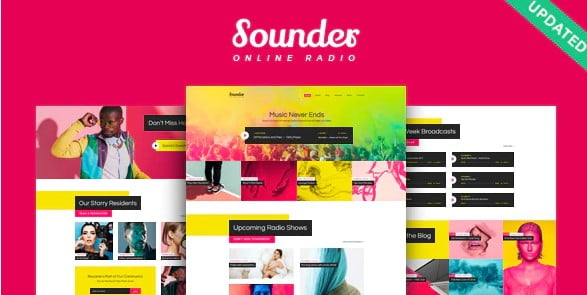 Sounder - 35+ TOP Color Schemes WordPress Theme [year]