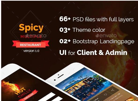 Spicy-Multi-Restaurant - 38+ BEST Dashboard PSD & Sketch Templates [year]