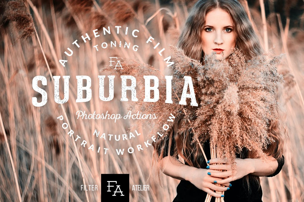 Suburbia-Photoshop-Actions - 50+ BEST Photo Editing Photoshop Actions [year]
