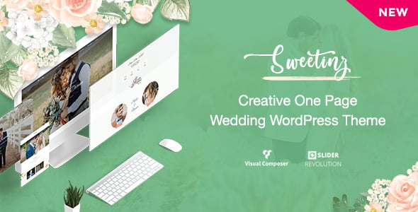 Sweetinz - 35+ GREAT Wedding Invitation WordPress Themes [year]