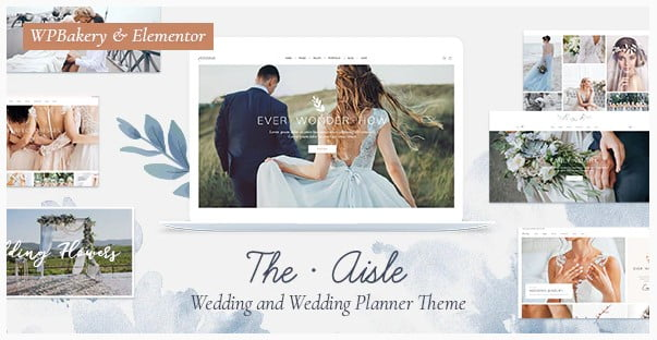 The-Aisle - 35+ GREAT Wedding Invitation WordPress Themes [year]