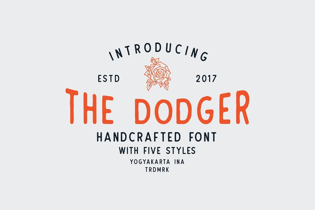 The-Dodger - 50+ BEST Typography Logo Fonts [year]