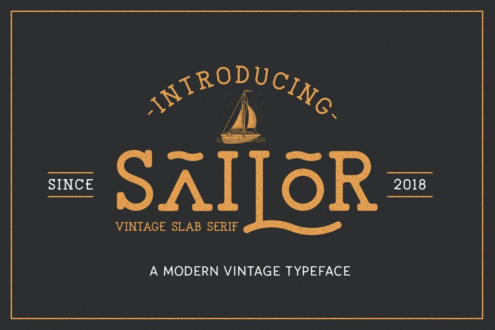 The-Sailor-Vintage-Typeface - 50+ BEST Typography Logo Fonts [year]