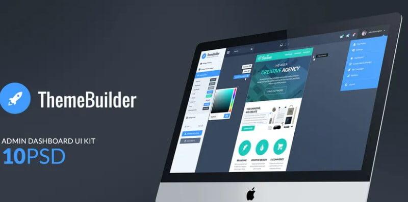 ThemeBuilder-1 - 38+ BEST Dashboard PSD & Sketch Templates [year]