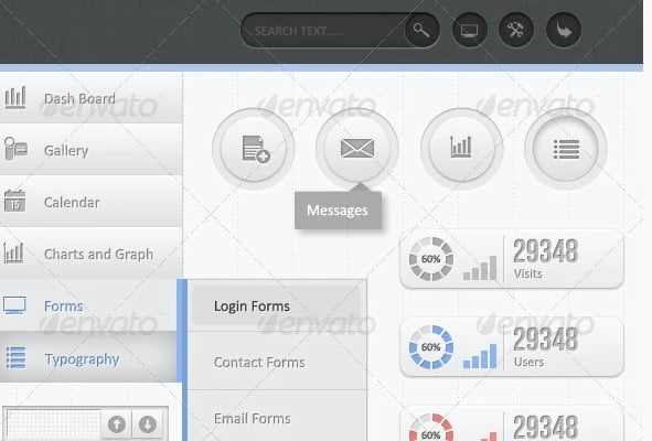 Ultra-Clean-Dash - 38+ BEST Dashboard PSD & Sketch Templates [year]