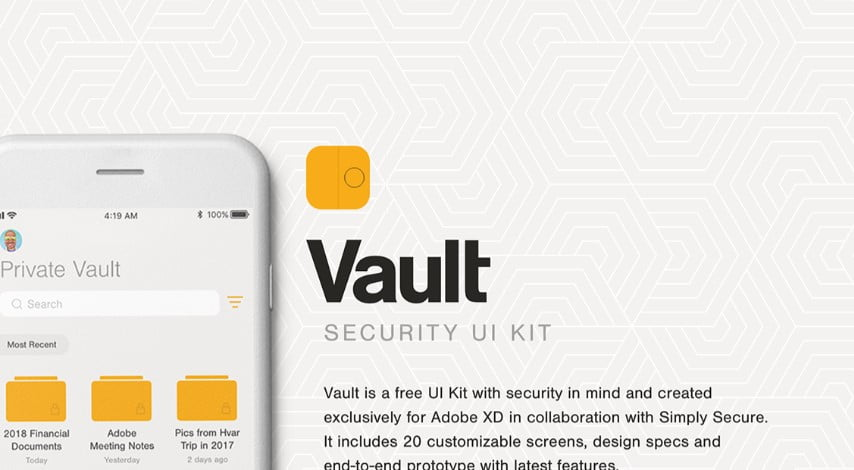 Vault-UI-Kit - 53+ BEST FREE Adobe XD Web & Mobile Kits [year]