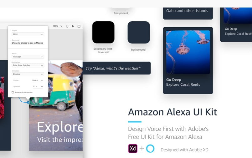Voice-UI-Kit - 53+ BEST FREE Adobe XD Web & Mobile Kits [year]