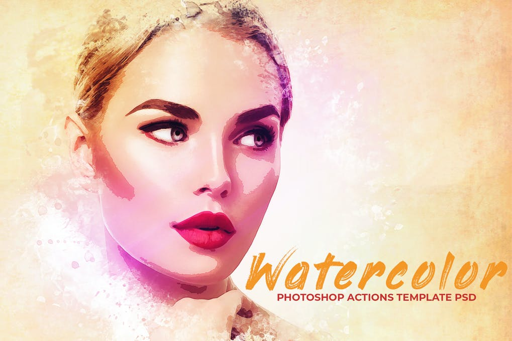 Watercolor-Photoshop-1 - 50+ BEST Photo Editing Photoshop Actions [year]