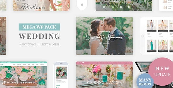 Wedding-Industry - 35+ GREAT Wedding Invitation WordPress Themes [year]