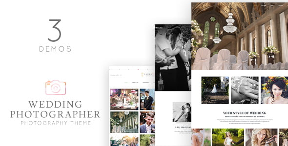 Wedding-Photographer - 35+ GREAT Wedding Invitation WordPress Themes [year]