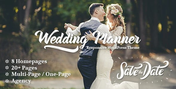 Wedding-Planner - 35+ GREAT Wedding Invitation WordPress Themes [year]