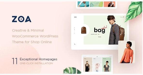 Zoa - 53+ Pretty Ecommerce WordPress Themes [year]