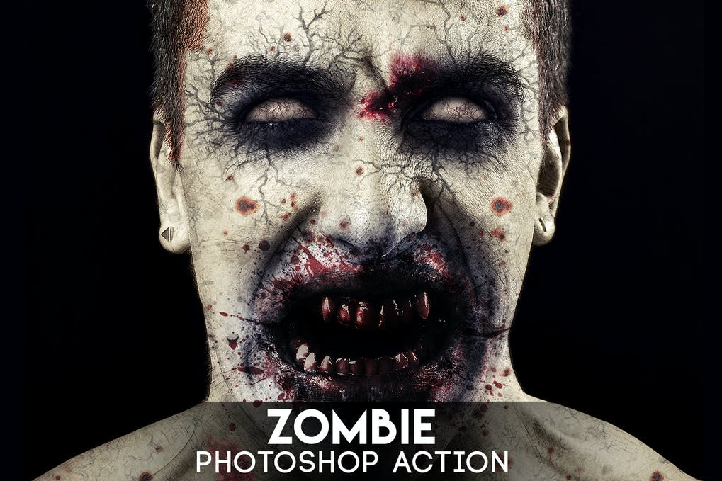 Zombie-Photoshop-Action - 50+ BEST Photo Editing Photoshop Actions [year]