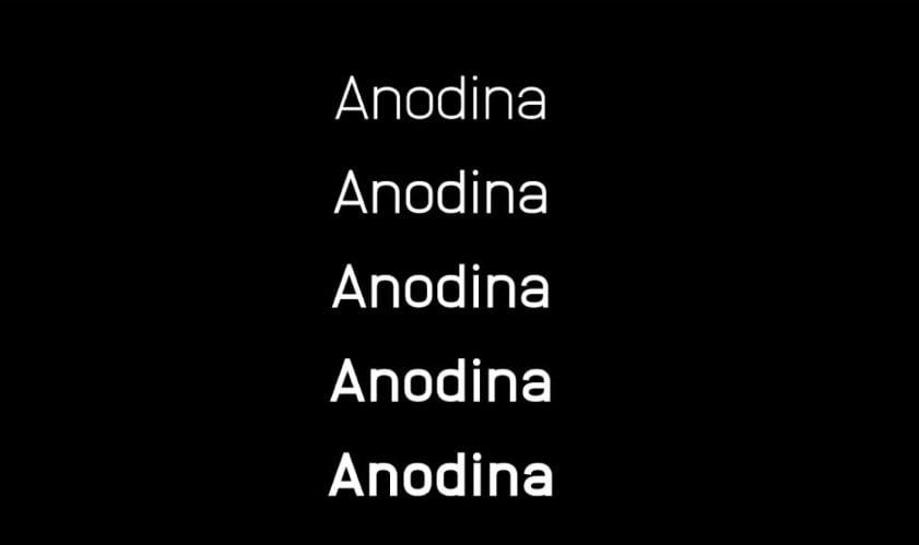 ANODINA - 63+ BEST FREE Fontaholic Fonts [year]