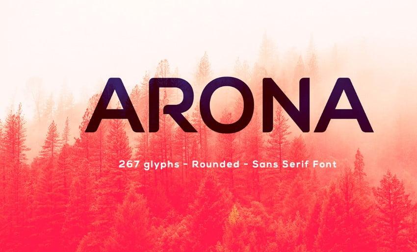 ARONA - 63+ BEST FREE Fontaholic Fonts [year]