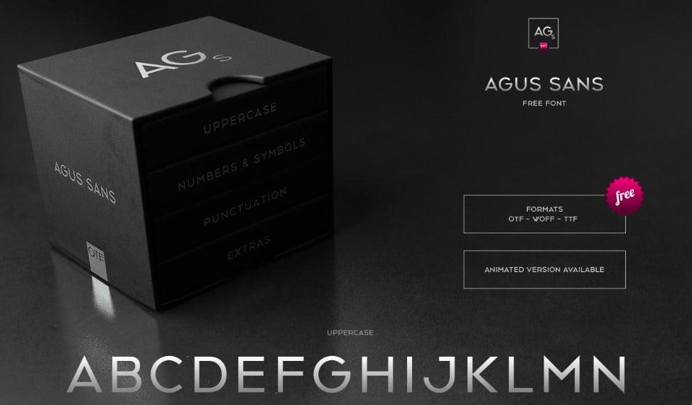 Agus-Sans - 63+ BEST FREE Fontaholic Fonts [year]
