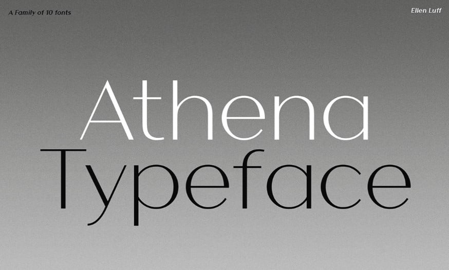 Athena - 63+ BEST FREE Fontaholic Fonts [year]