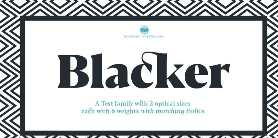 Blacker - 63+ BEST FREE Fontaholic Fonts [year]