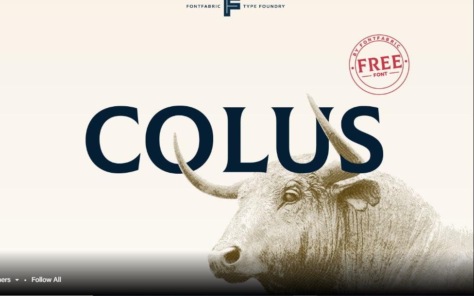 Colus - 63+ BEST FREE Fontaholic Fonts [year]