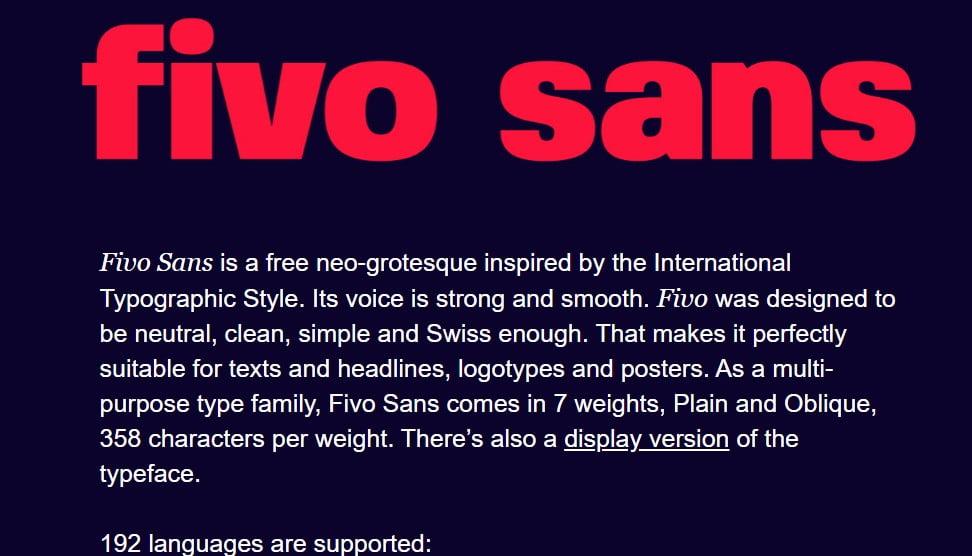 Fivo-Sans - 63+ BEST FREE Fontaholic Fonts [year]