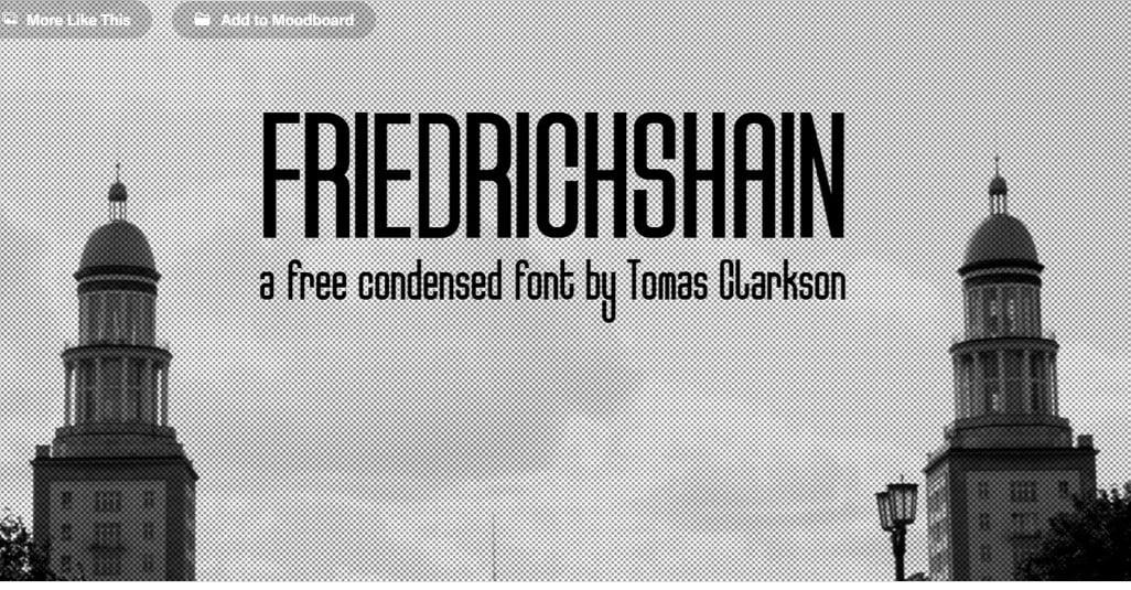 Friedrichshain - 63+ BEST FREE Fontaholic Fonts [year]