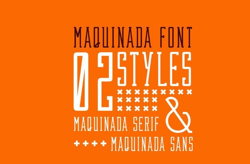 Maquinada-Font - 63+ BEST FREE Fontaholic Fonts [year]