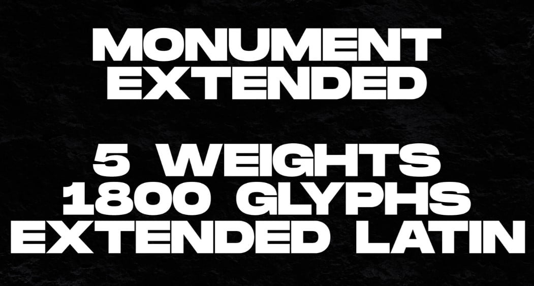 Monument-Extended - 63+ BEST FREE Fontaholic Fonts [year]