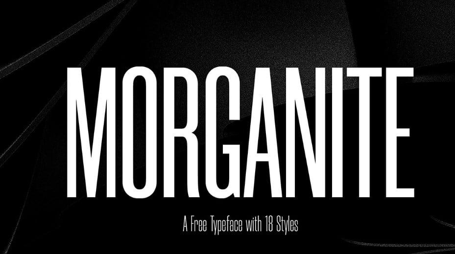 Morganite - 63+ BEST FREE Fontaholic Fonts [year]