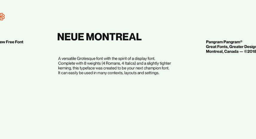 Neue-Montreal - 63+ BEST FREE Fontaholic Fonts [year]