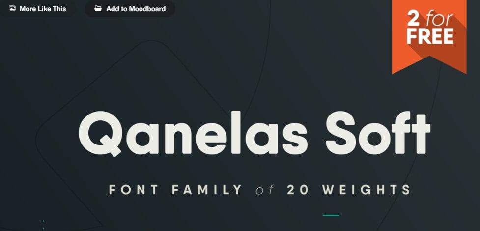 Qanelas-Soft-Typeface - 63+ BEST FREE Fontaholic Fonts [year]