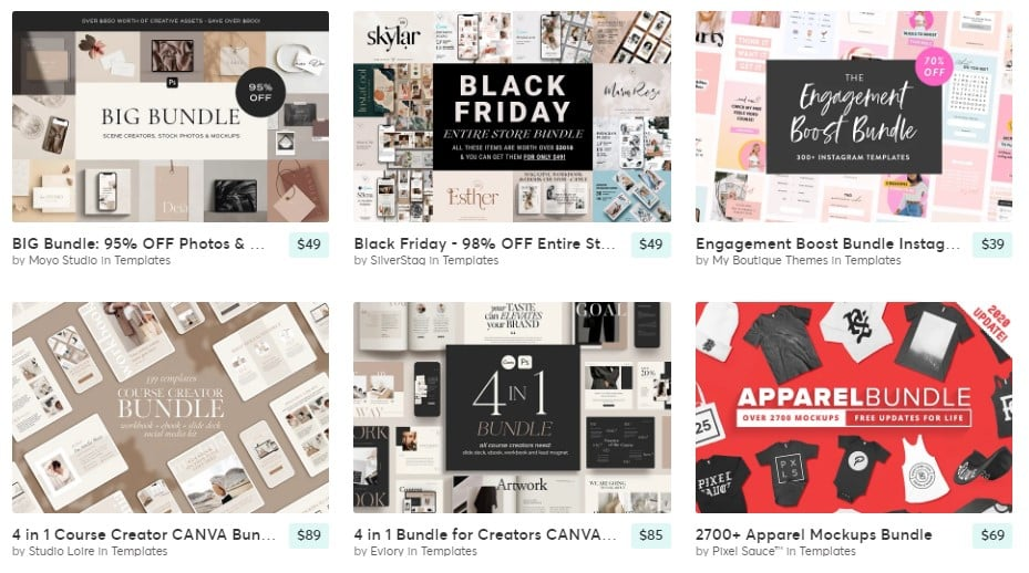 creativemarket - 53+ Blogger Top Free Grid Style Templates [year]