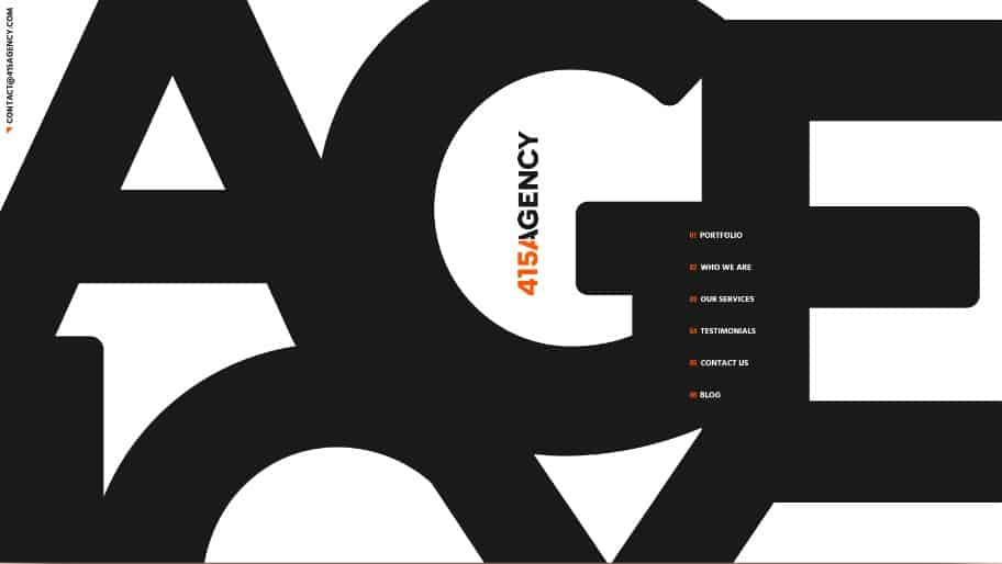 415Agency-Website - 39 BEST FREE Bold Typography Web Designs