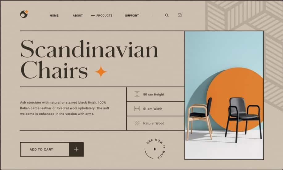 Interior - 39 BEST FREE Bold Typography Web Designs