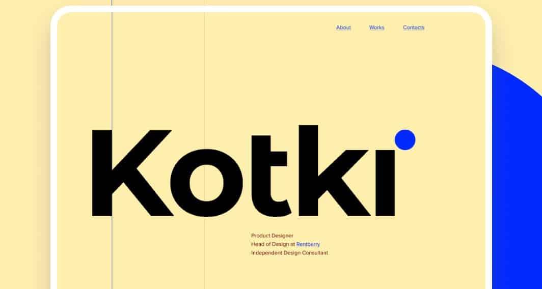 Kotki - 39 BEST FREE Bold Typography Web Designs