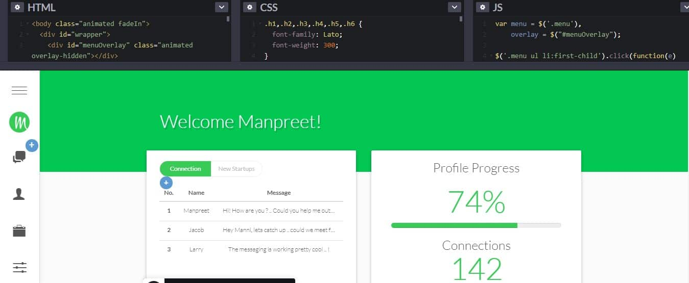 New-user-tour - 33 NICE FREE CSS Dashboard Designs