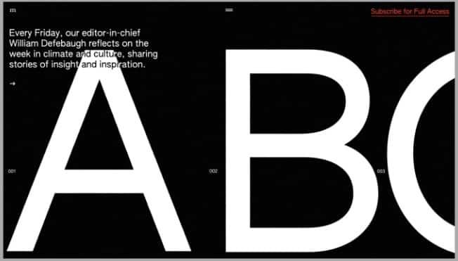 Newsletter-Animation - 39 BEST FREE Bold Typography Web Designs