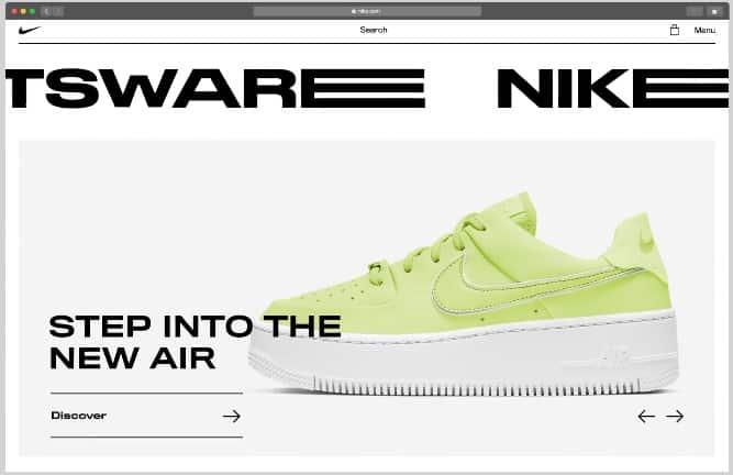 Nike - 39 BEST FREE Bold Typography Web Designs