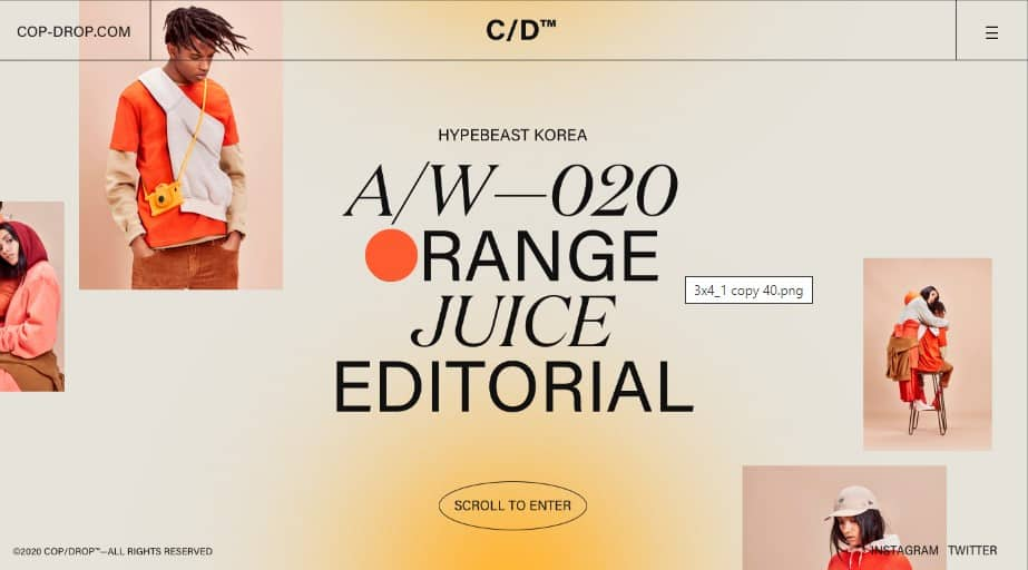 ORANGE-JUICE - 39 BEST FREE Bold Typography Web Designs