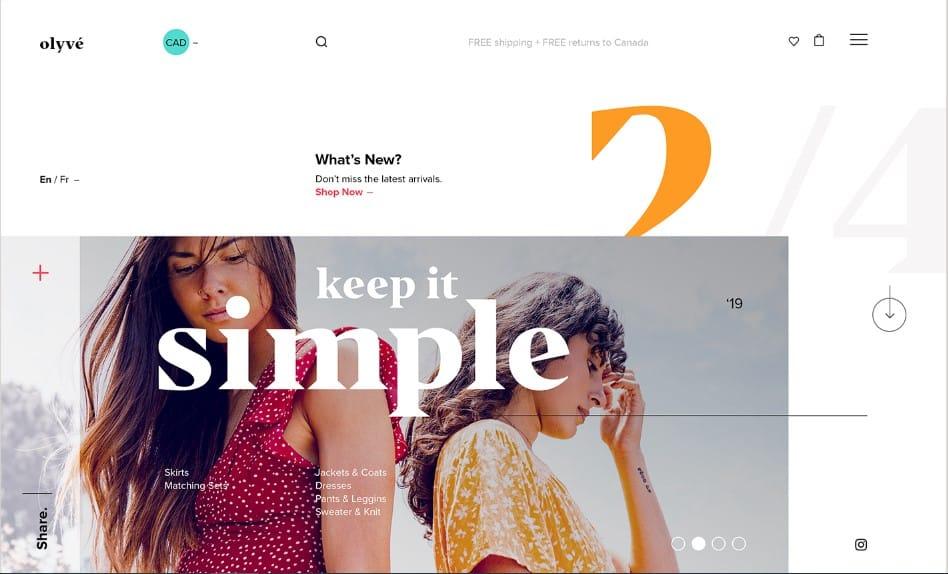 Olyve-1 - 39 BEST FREE Bold Typography Web Designs