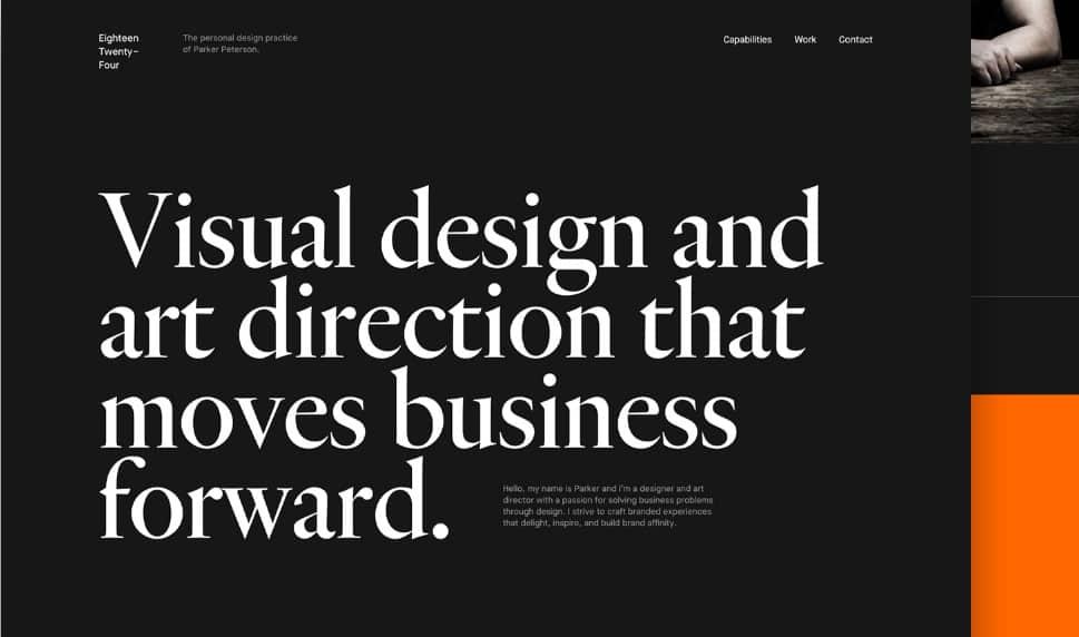 Portfolio-Progress - 39 BEST FREE Bold Typography Web Designs