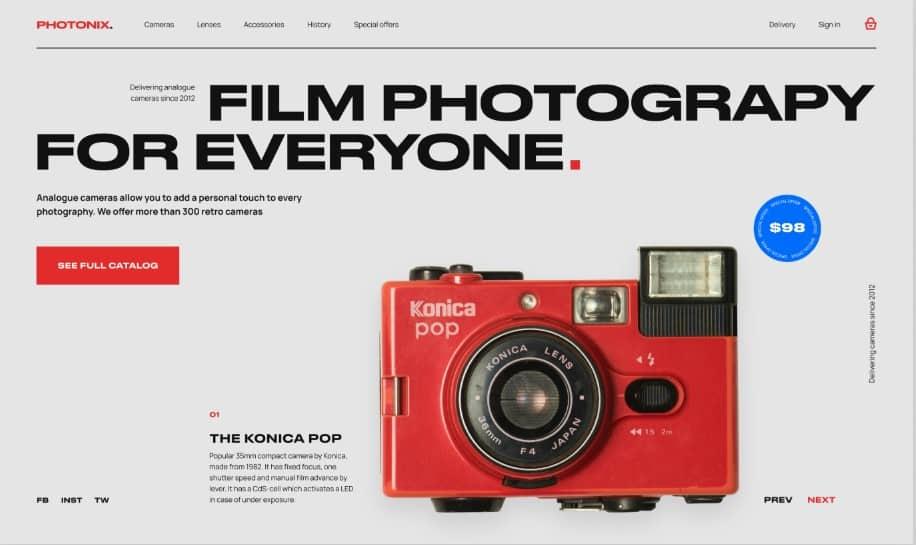 Ramotion-Lab - 39 BEST FREE Bold Typography Web Designs